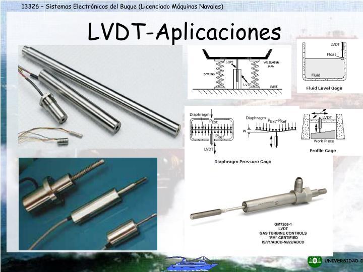 LVDT-Aplicaciones