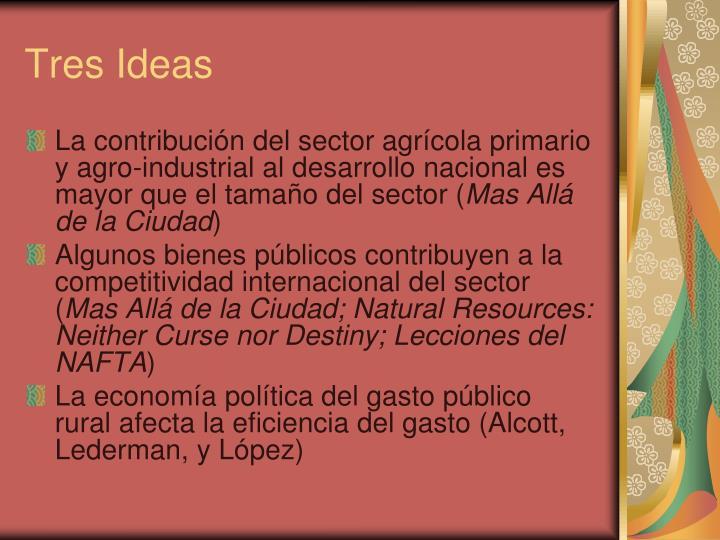 Tres Ideas