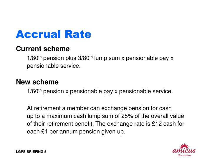 Accrual Rate