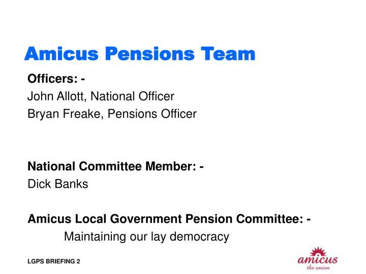 Amicus Pensions Team