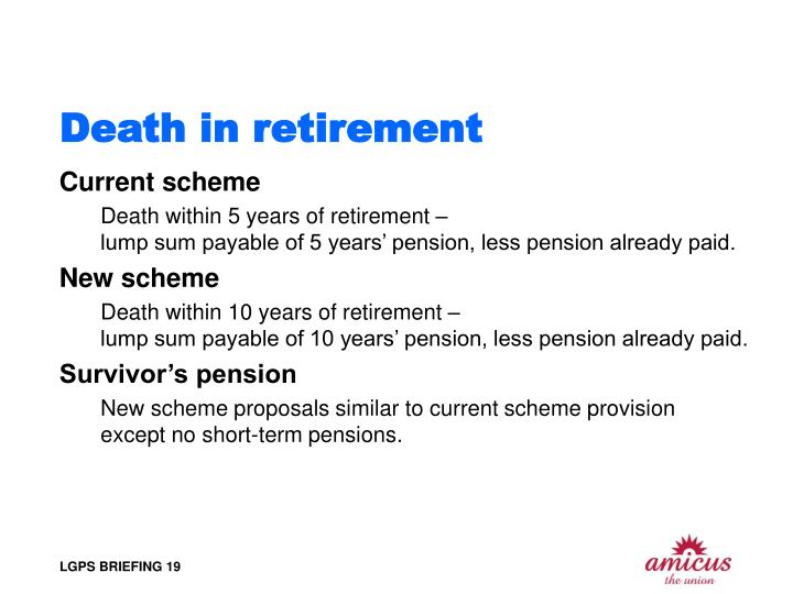 Death in retirement