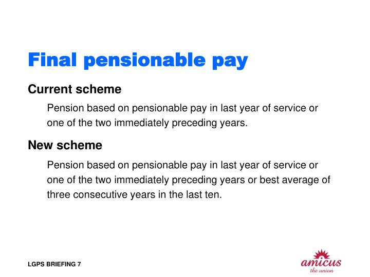 Final pensionable pay