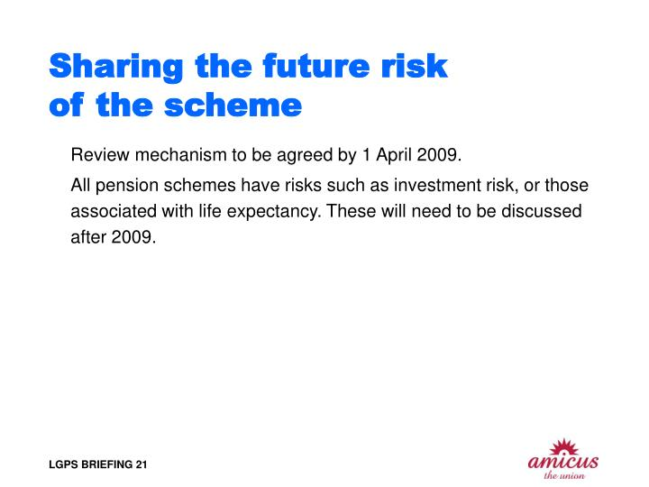 Sharing the future risk