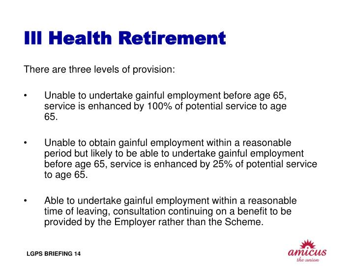 Ill Health Retirement