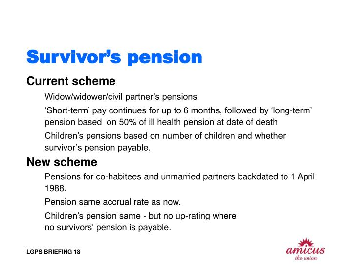 Survivor's pension