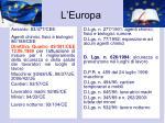 l europa