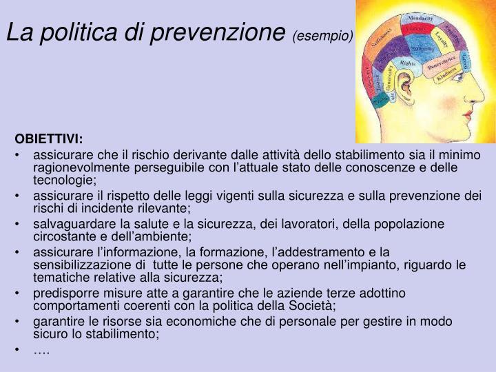 La politica di prevenzione