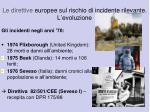 le direttive europee sul rischio di incidente rilevante l evoluzione