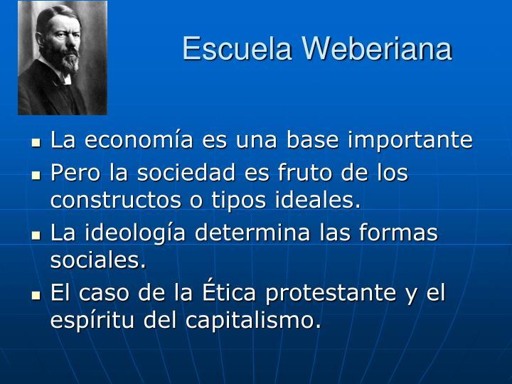 Escuela Weberiana