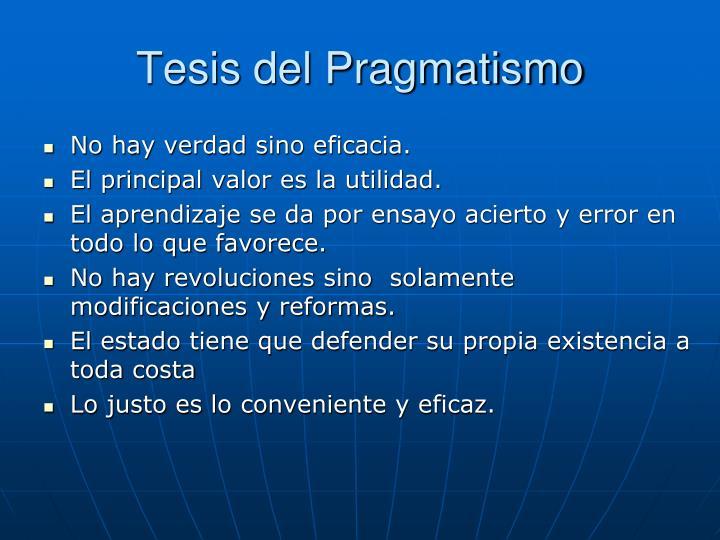 Tesis del Pragmatismo