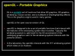 opengl portable graphics