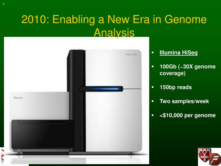2010: Enabling a New Era in Genome Analysis