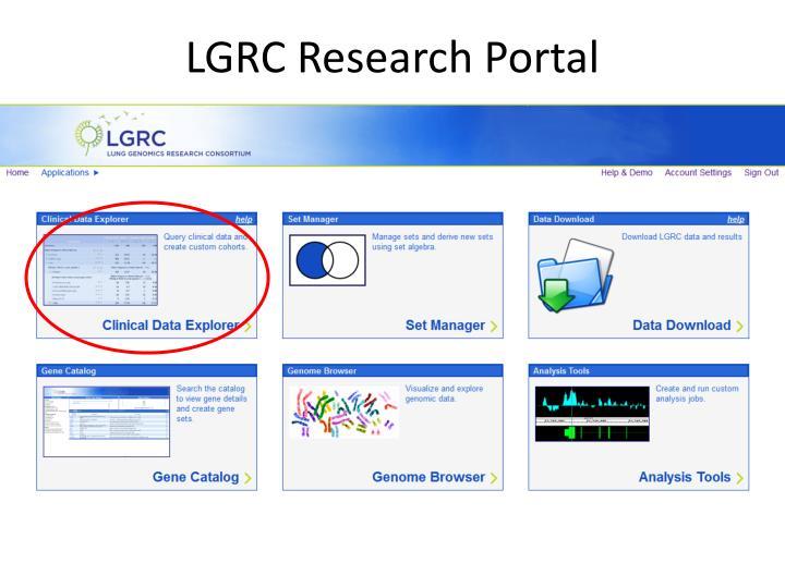 LGRC Research Portal