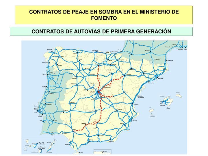 CONTRATOS DE PEAJE EN SOMBRA EN EL MINISTERIO DE FOMENTO