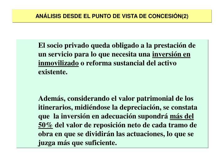 ANÁLISIS DESDE EL PUNTO DE VISTA DE CONCESIÓN(2)