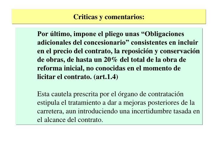 Criticas y comentarios: