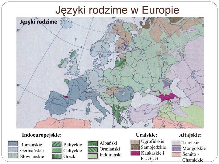 Języki rodzime w Europie