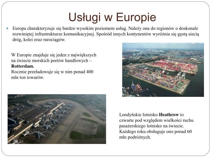 Usługi w Europie