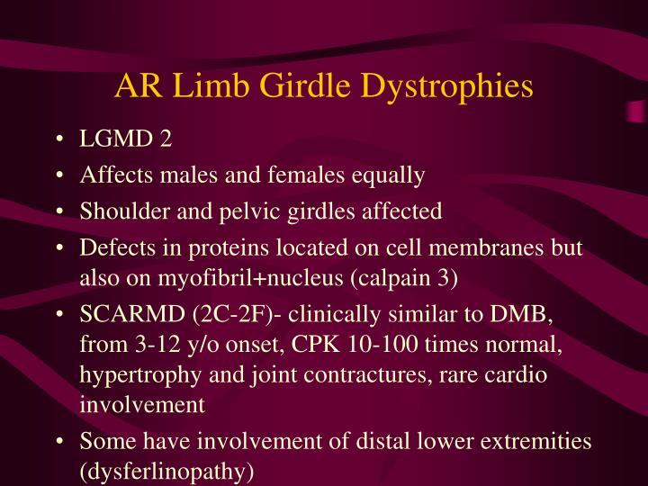 AR Limb Girdle Dystrophies