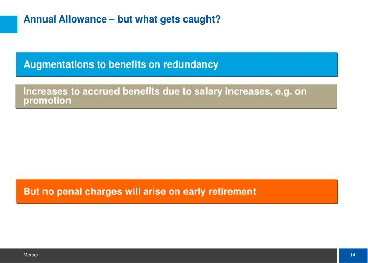 Annual Allowance – but what gets caught?