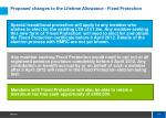 proposed changes to the lifetime allowance fixed protection