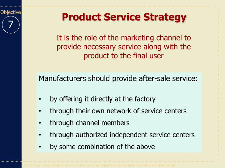 Product Service Strategy