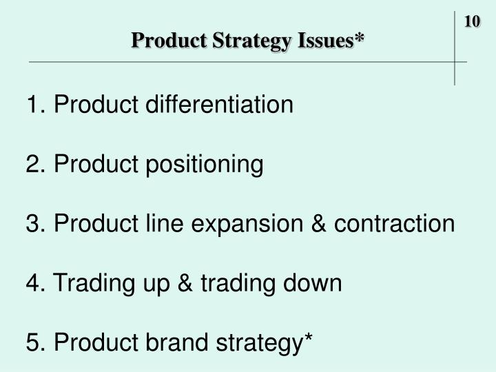 Product Strategy Issues*