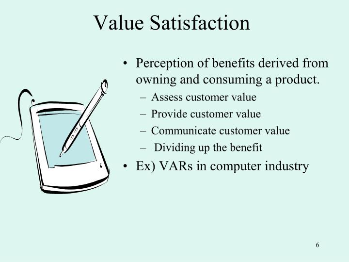 Value Satisfaction