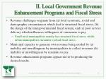 ii local government revenue enhancement programs and fiscal stress