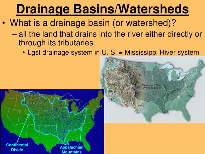 Drainage Basins/Watersheds