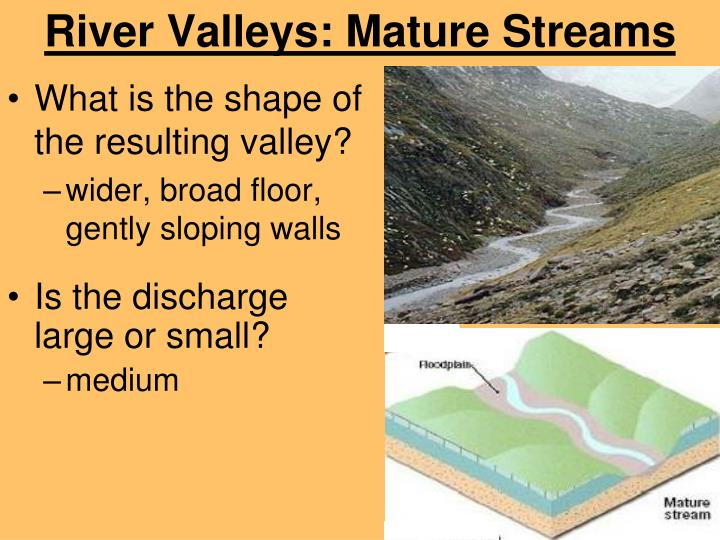 River Valleys: Mature Streams