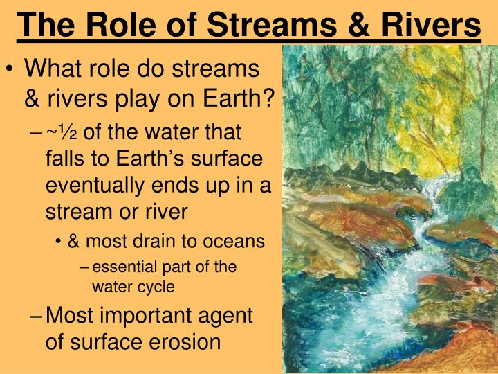 The role of streams rivers
