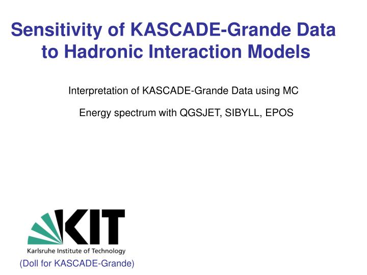 Interpretation of kascade grande data using mc energy spectrum with qgsjet sibyll epos