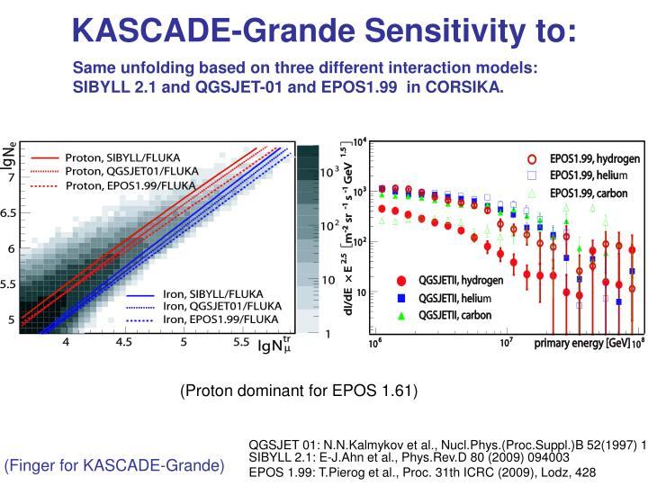 KASCADE-Grande Sensitivity to: