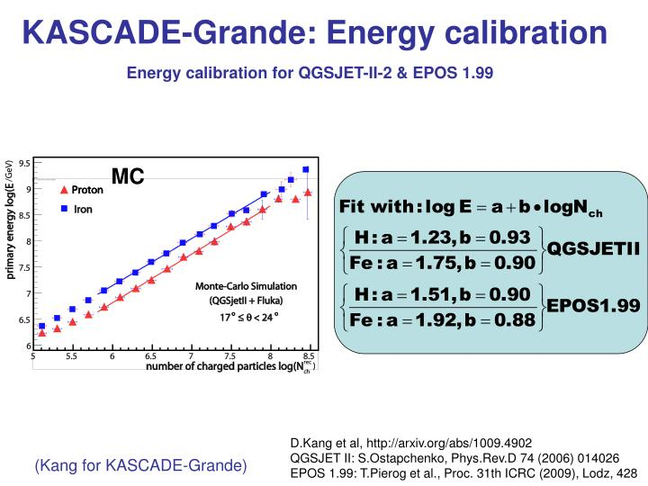 KASCADE-Grande: Energy calibration