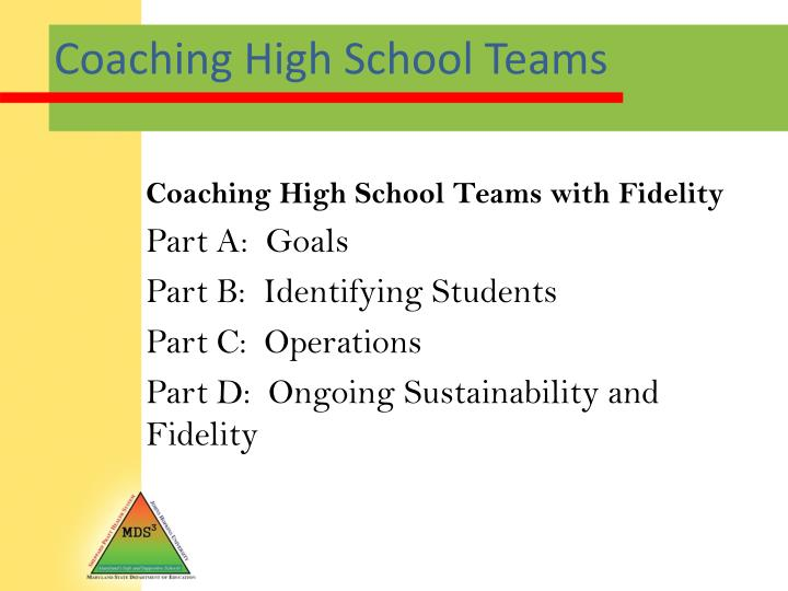 Coaching High School Teams