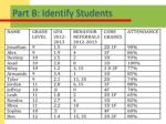 part b identify students1