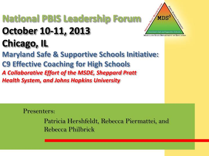National PBIS Leadership Forum