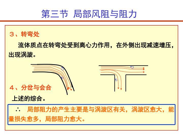 第三节  局部风阻与阻力