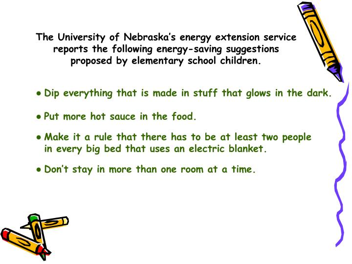 The University of Nebraska's energy extension service