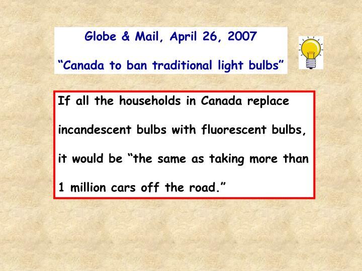 Globe & Mail, April 26, 2007