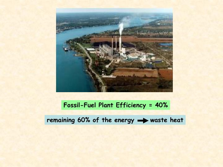 Fossil-Fuel Plant Efficiency = 40%
