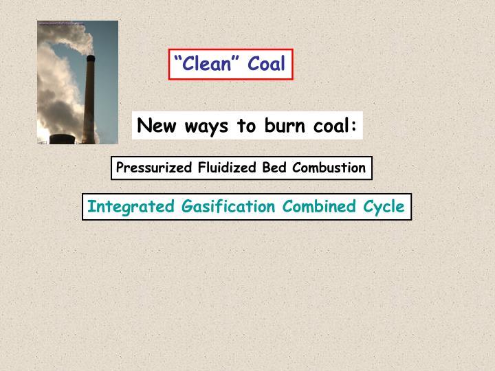 """Clean"" Coal"