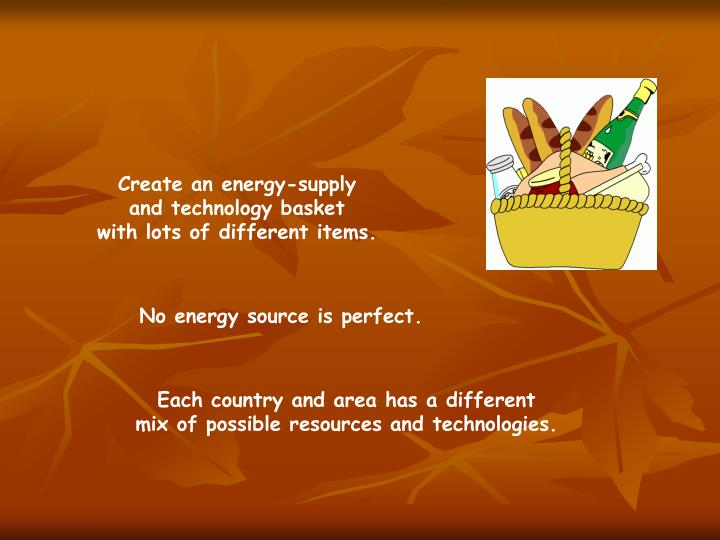 Create an energy-supply