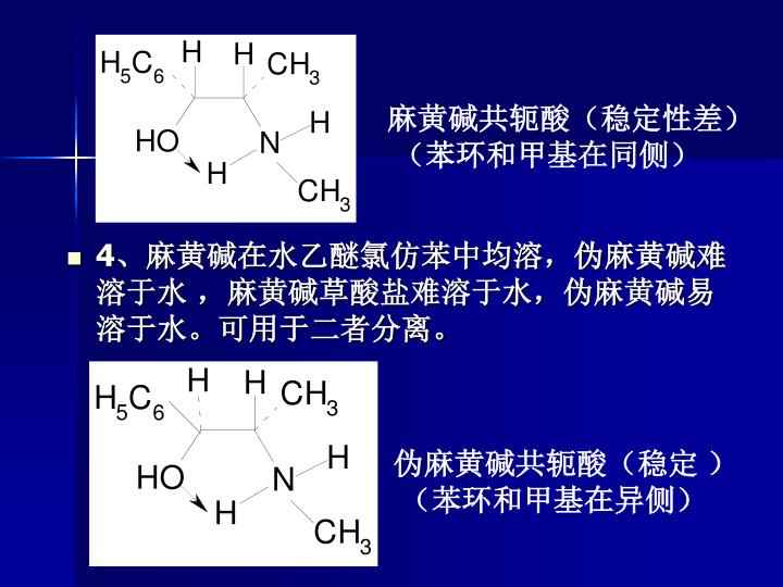 麻黄碱共轭酸(稳定性差)