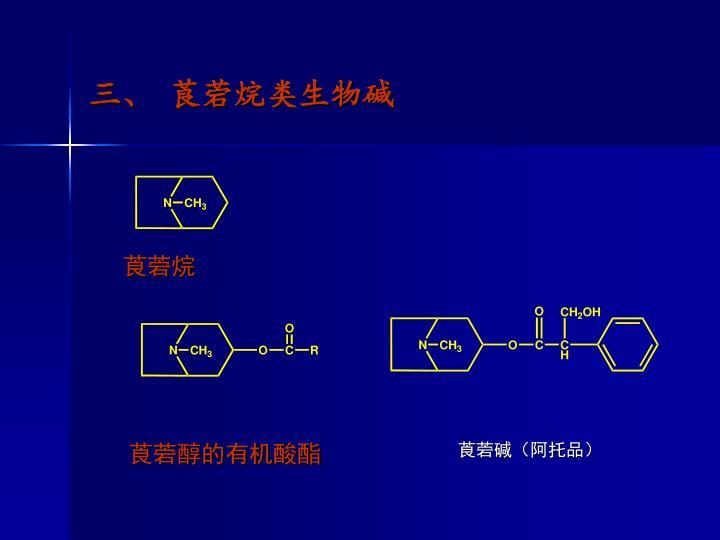 三、 莨菪烷类生物碱