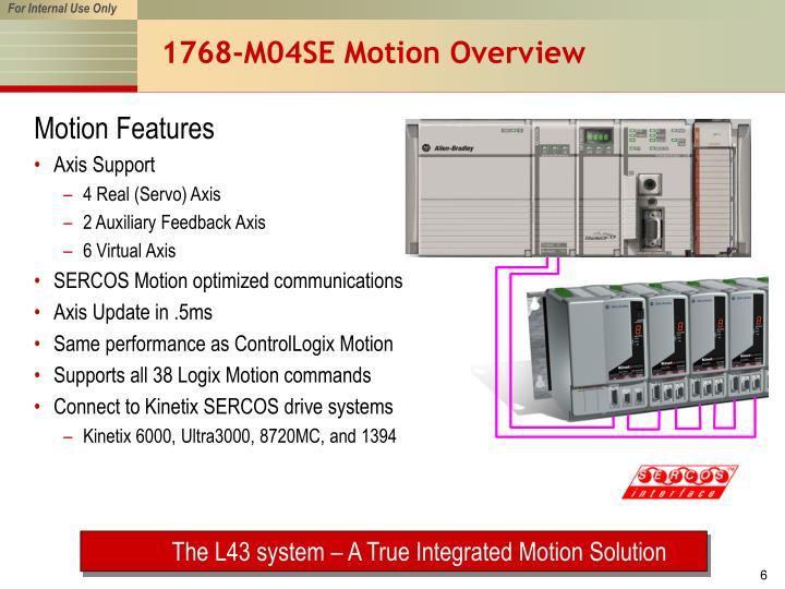 1768-M04SE Motion Overview