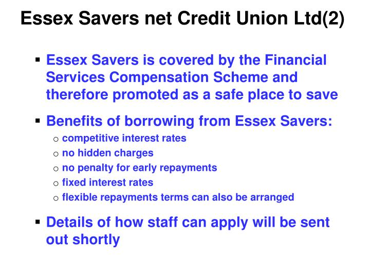 Essex Savers net Credit Union Ltd(2)