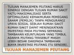 tujuan manajemen piutang