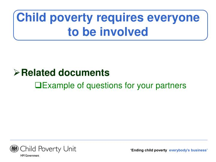 Child poverty requires everyone to be involved